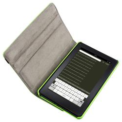 Green Swivel Case/ USB Cable/ Travel Charger for Amazon Kindle Fire - Thumbnail 1