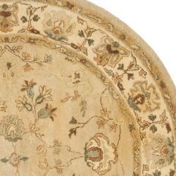 Safavieh Handmade Farahan Khaki/ Ivory Hand-spun Wool Rug (6' Round)