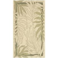 Safavieh Poolside Cream/ Green Indoor Outdoor Rug (2' x 3'7)