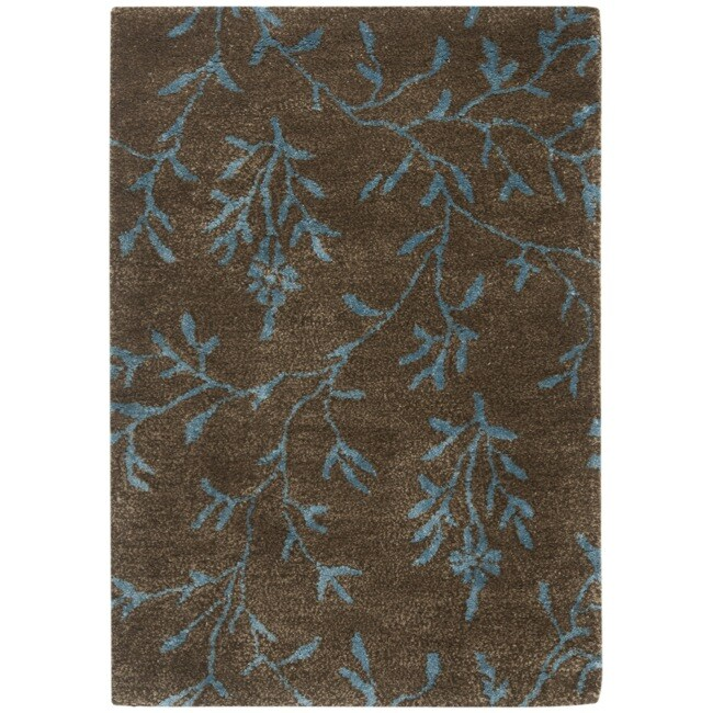 Safavieh Handmade Tranquility Brown New Zealand Wool Rug - 2' x 3'