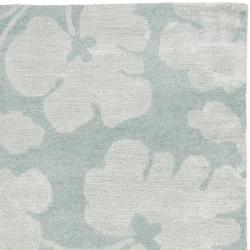 Safavieh Handmade Shadows Light Blue New Zealand Wool Rug (6' x 9') - Thumbnail 1