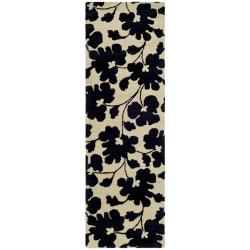 Safavieh Handmade Shadows Beige New Zealand Wool Rug (2'6 x 10')