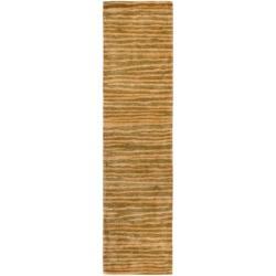 Safavieh Handmade Stripes Brown New Zealand Wool Rug (2'6 x 10')