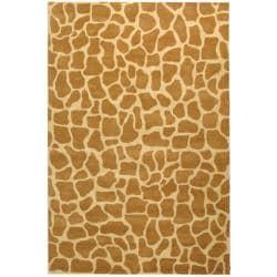 Safavieh Handmade Giraffe Beige New Zealand Wool Rug (8'3 x 11')