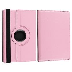 Pink Leather Swivel Case/ Travel Charger for Amazon Kindle Fire - Thumbnail 2