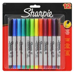 Sharpie Ultra-fine Assorted Colors Permanent Markers (Pack of 12)