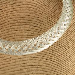Handcrafted Silver Plated Woven Design Choker Necklace (India)