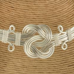 Handcrafted Silver Plated Buddha Knot Choker Necklace (India) - Thumbnail 1