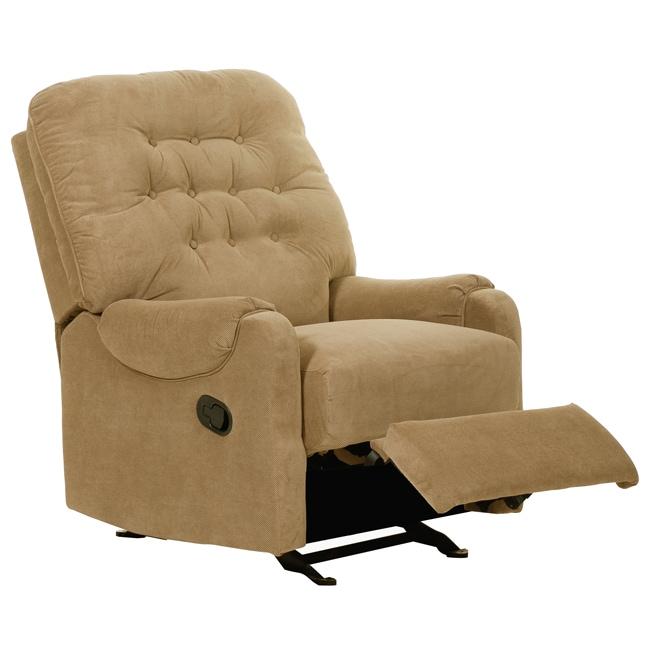 Stockton Mushroom Fabric Recliner/ Glider Chair