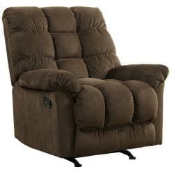 Berkshire Chocolate Brown Fabric Rocker Recliner Chair