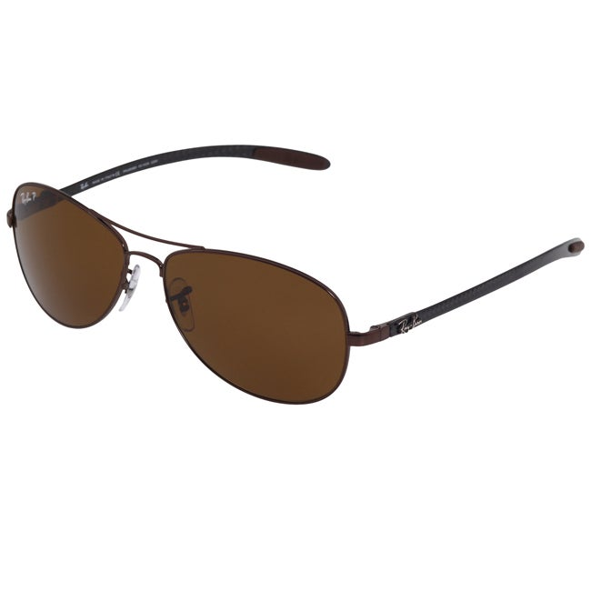 Ray-Ban Unisex RB 8301 Brown Carbon Fiber Aviator Sunglasses