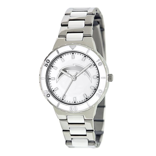 Game Time Women's San Diego Chargers Logo Pearl Watch