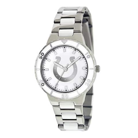 Game Time Women's Indianapolis Colts Logo Pearl Watch