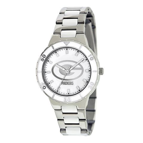 Game Time Women's Green Bay Packers Logo Pearl Watch