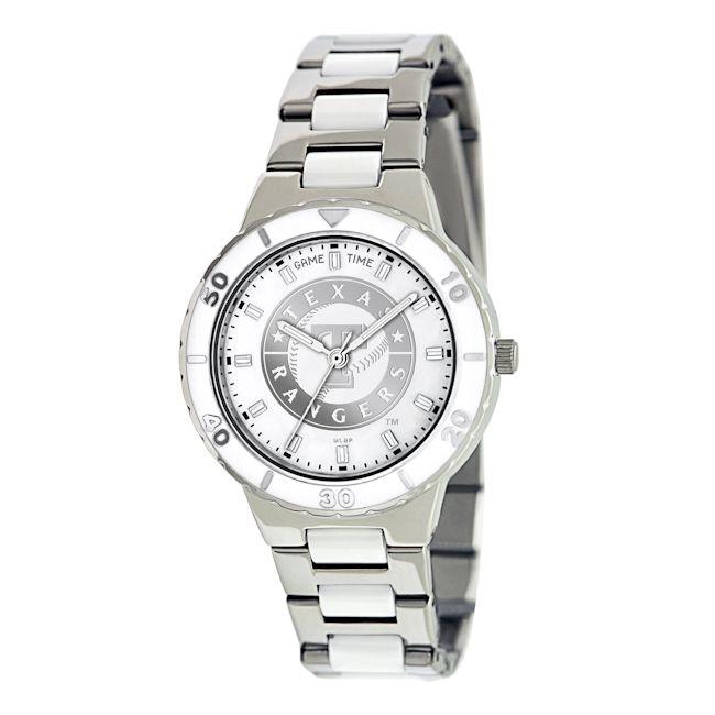 Game Time Women's Texas Rangers Logo Pearl Watch