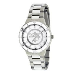 Game Time Women's Pittsburgh Steelers Logo Pearl Watch
