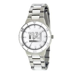Game Time Women's New York Giants Logo Pearl Watch