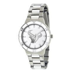 Game Time Women's Houston Texans Logo Pearl Watch