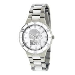 Game Time Women's Cleveland Browns Logo Pearl Watch