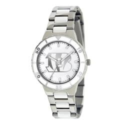 Game Time Women's Cincinnati Bengals Logo Pearl Watch