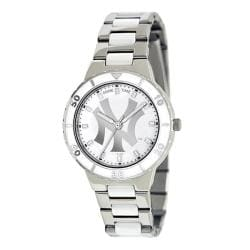 Game Time Women's New York Yankees Logo Pearl Watch