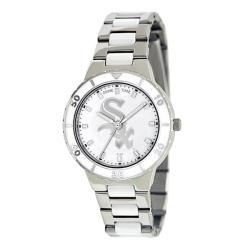 Game Time Women's Chicago White Sox Logo Pearl Watch