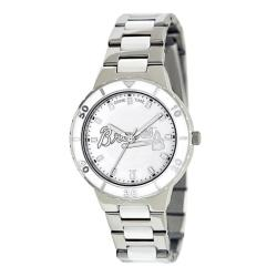 Game Time Women's Atlanta Braves Logo Pearl Watch