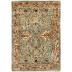 Safavieh Handmade Persian Legend Blue/ Gold Wool Accent Rug (2' x 3')