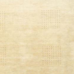 Indo Hand-knotted Tibetan Beige/ Brown Wool Rug (6' x 9')