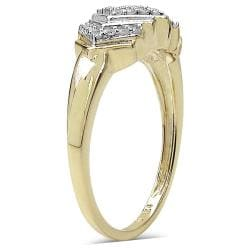 Malaika 14k Yellow Gold over Sterling Silver Diamond Cocktail Ring - Thumbnail 1
