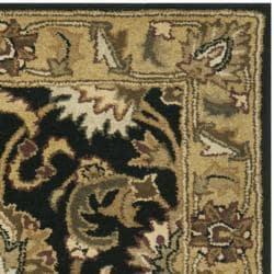 Safavieh Handmade Traditions Black/ Light Brown Wool Rug (3' x 5') - Thumbnail 1