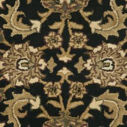 Safavieh Handmade Traditions Black/ Light Brown Wool Rug (3' x 5') - Thumbnail 2