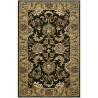 Safavieh Handmade Traditions Black/ Light Brown Wool Rug (3' x 5')