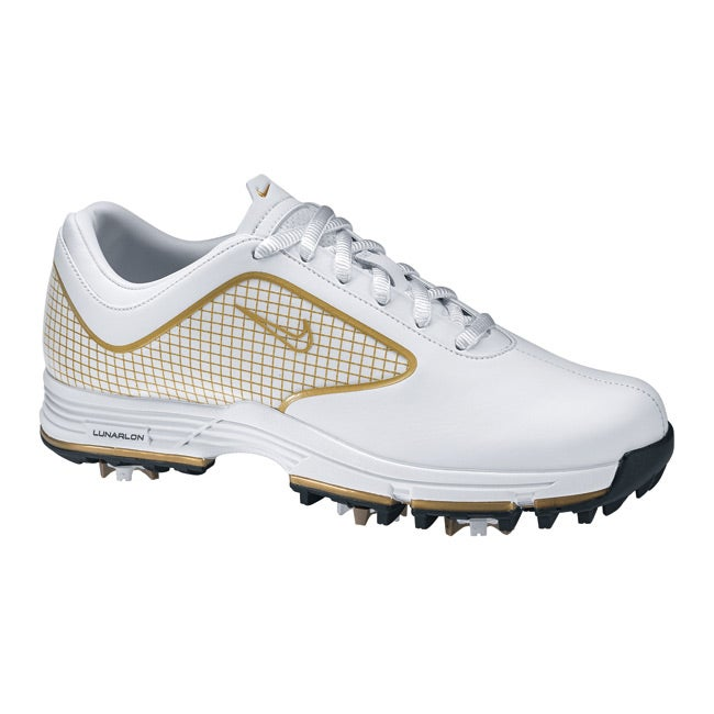 Nike Women's Lunar Links White/ Gold Golf Shoes