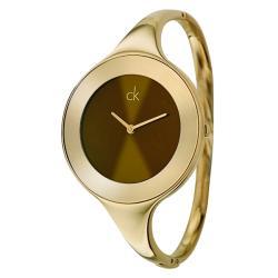 Calvin Klein Women's 'Mirror' Gold-plated Watch