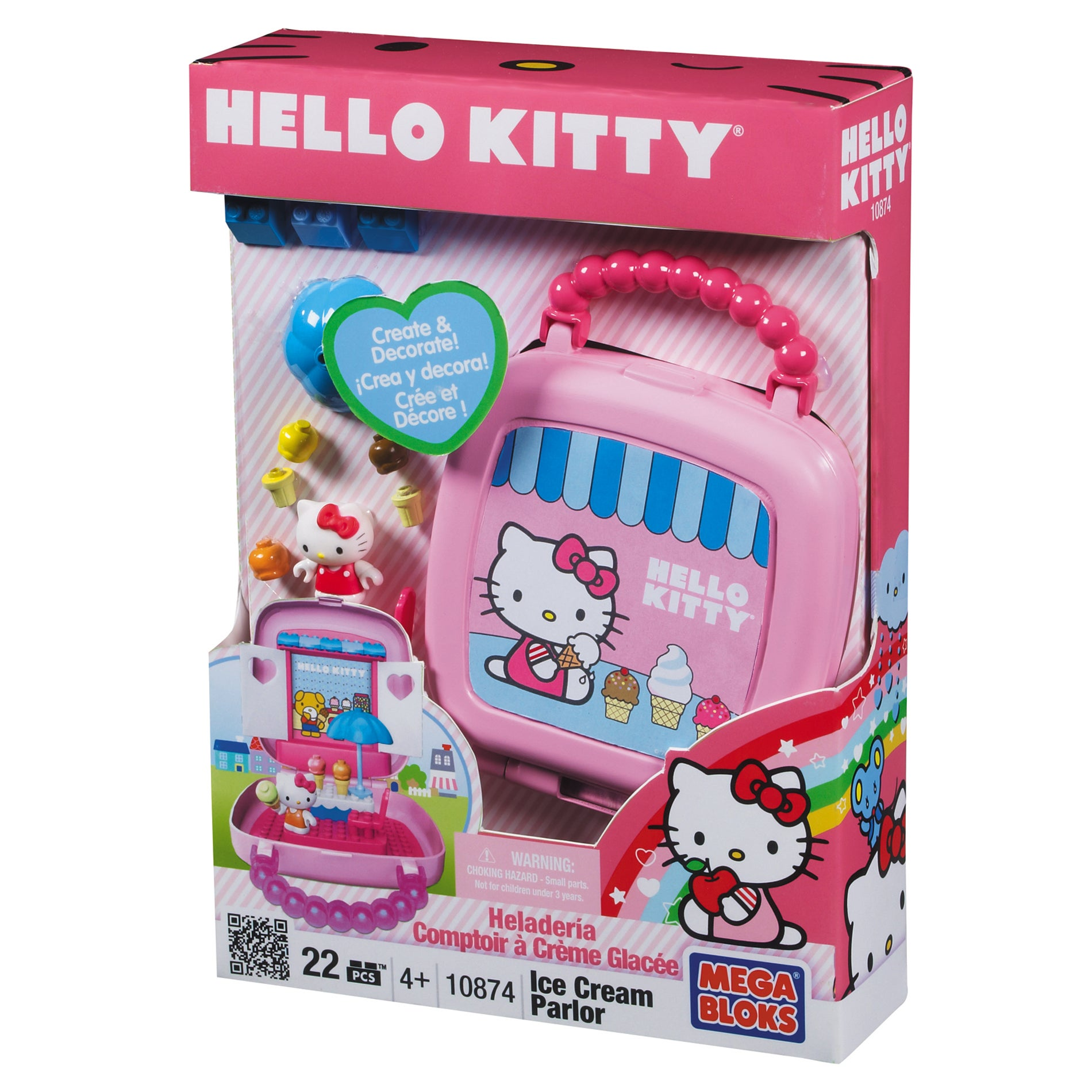 Mega Bloks Hello Kitty Ice Cream Shop Playset
