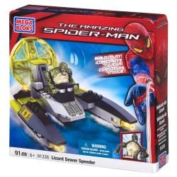 Mega Bloks Amazing Spider-Man Lizardman Sewer Speeder Playset - Thumbnail 1