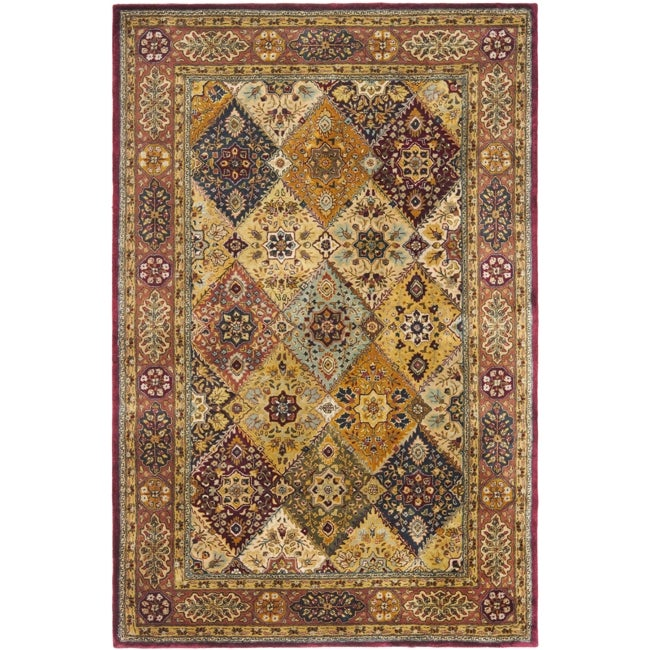 "Safavieh Handmade Persian Legend Multi/ Rust Wool Rug - 9'6"" x 13'6"""