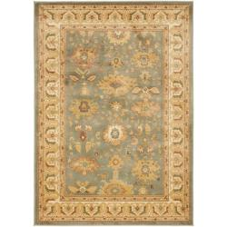 Safavieh Oushak Blue/ Cream Powerloomed Rug (8' x 11')