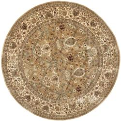 Safavieh Handmade Persian Legend Light Green/ Beige Wool Rug (8' Round)