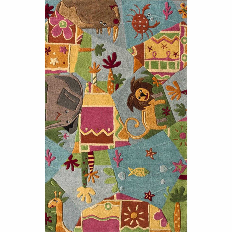 nuLOOM Handmade Kids Jungle Wool Rug (5' x 7')