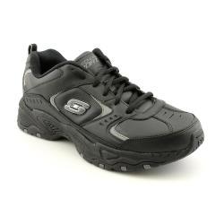 shop skechers sport men's '51207' leather casual shoes