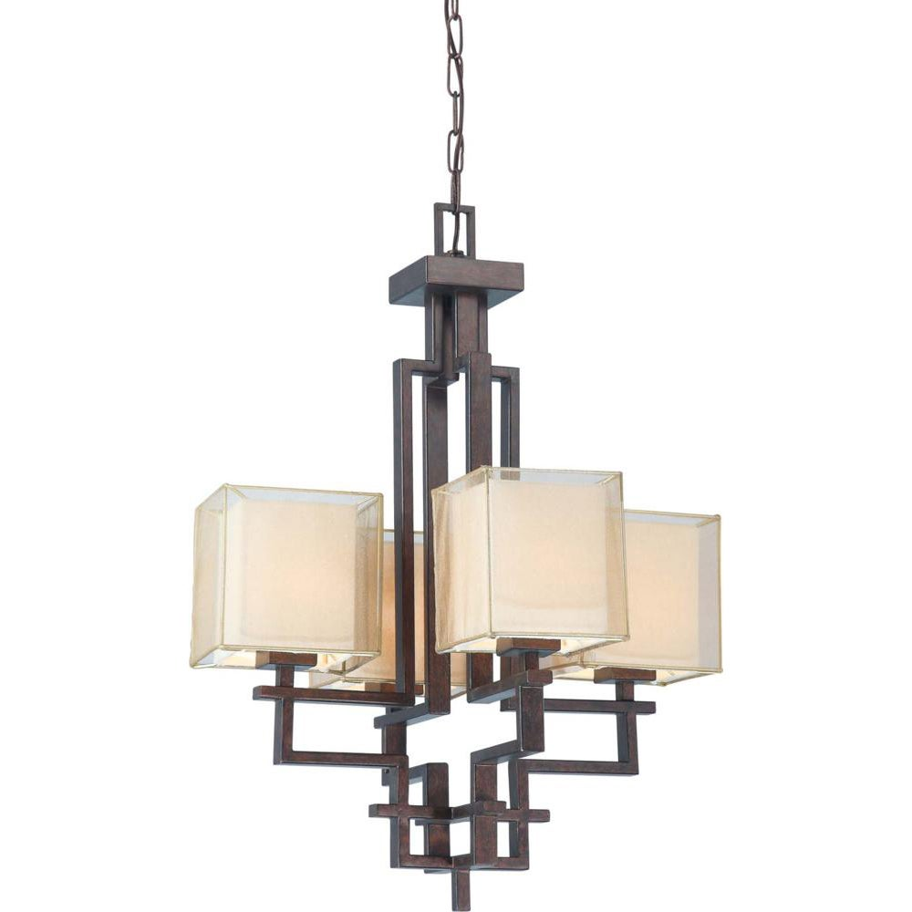 Melanie 4 Light Corvo Bronze Chandelier