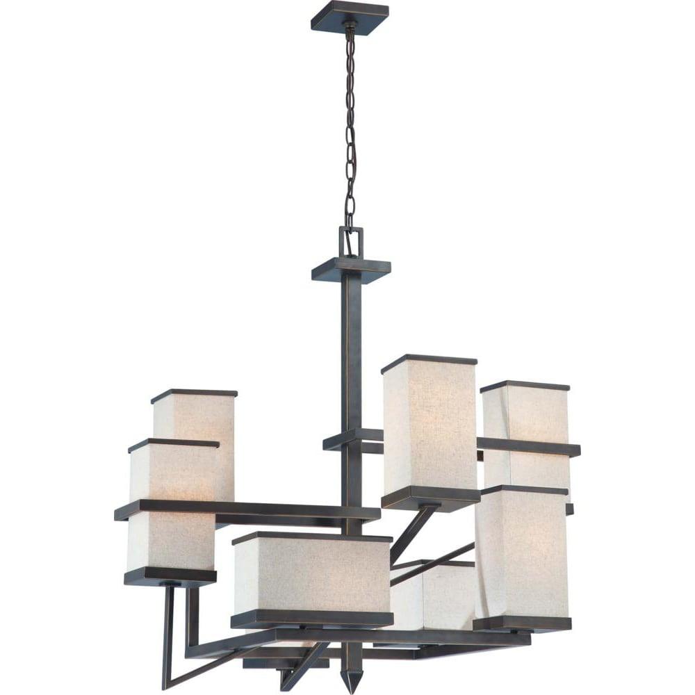 Nuvo Lighting Bronze 8-light Chandelier