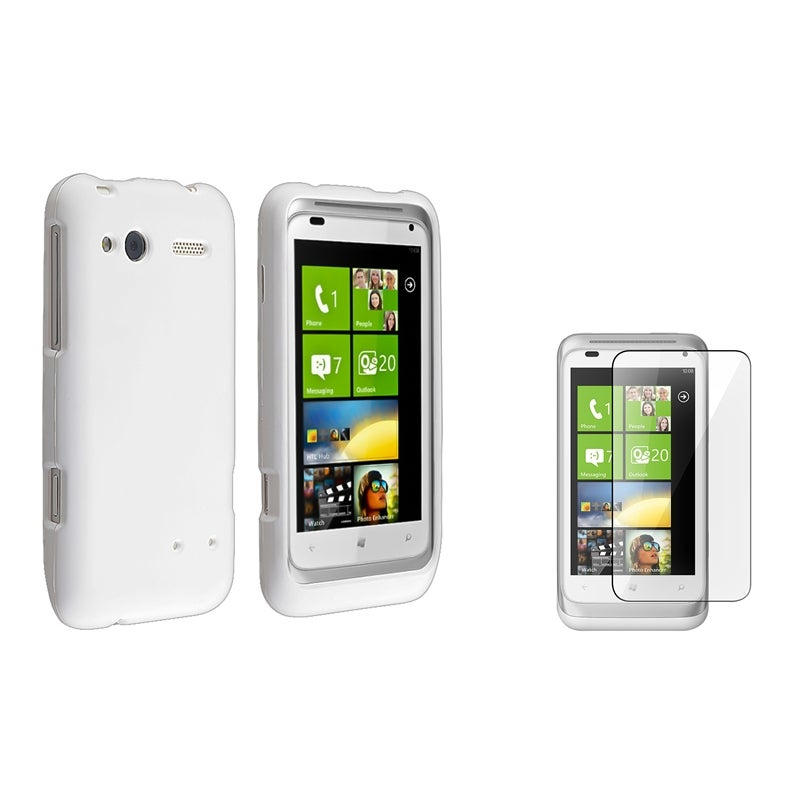 White Case/ Screen Protector for HTC Radar 4G