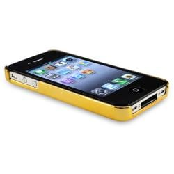 Black Carbon Fiber Case/ Anti-glare Protector for Apple iPhone 4/ 4S