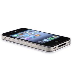 Shiny White Case/ Black Stylus for Apple iPhone 4/ 4S - Thumbnail 2