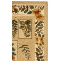 Safavieh Hand-hooked Chelsea Floral Ivory Wool Rug (2'6 x 4') - Thumbnail 1