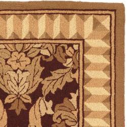 Safavieh Hand-hooked Chelsea Leaves Brown Wool Rug (5'3 x 8'3)