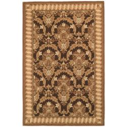 Safavieh Hand-hooked Chelsea Leaves Brown/ Beige Wool Rug (7'6 x 9'9)